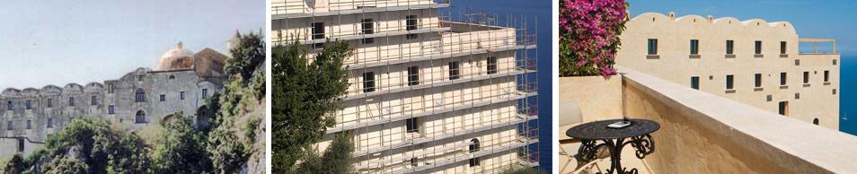 Lavori Edili di restauro e consolidamento per il Monastero Santa Rosa Luxury Hotel & Spa in Costiera Amalfitana